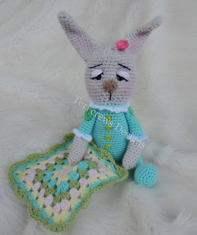 Baby Bunny Amigurumi Pattern : Baby Bunny Softie Amigurumi Toy Crochet Pattern by Teri Crews