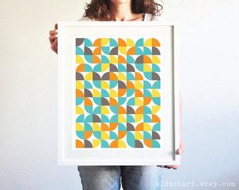 Abstract Art Print / Geometric Wall Art / Mid Century Modern Poster / Geometric Art / Scandinavian Print / Nordic Design / Aldari Art / Gray
