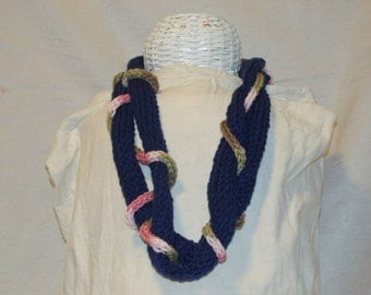 Knitted I Chord Necklace