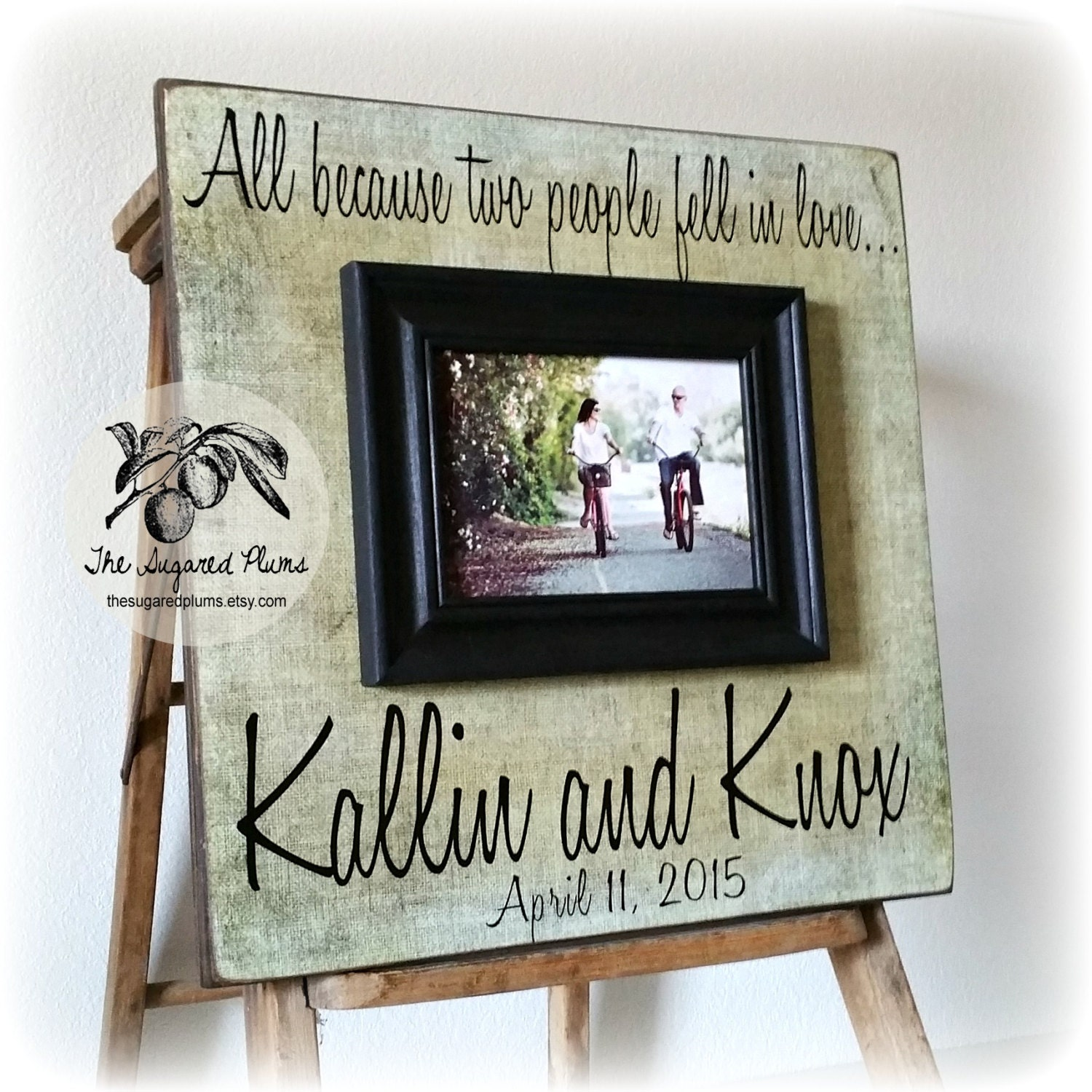 Personalized Wedding Gift Photo Frames : Personalized Wedding Frame Anniversary Gift Wedding Sign