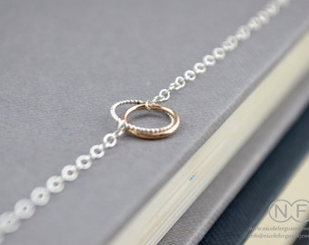 9ct Rose Gold and Sterling Silver Halo Bracelet by Nicole Ferguson Jewellery