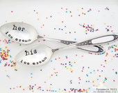 His Ice Cream Her Ice Cream Spoons. The ORIGINAL Hand Stamped Vintage Spoons™ by Sycamore Hill. My Ice Cream Your Ice Cream Teaspoons CUSTOM