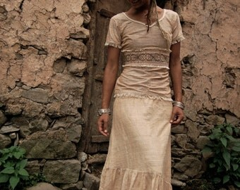 Top and Skirt Outfit  from Matching HAnd Loom fair trade cotton with Discount