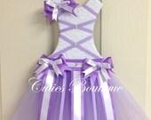 Tutu Dress Hair Bow Holder Lavender Purple