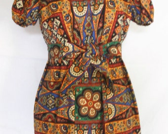 German Fabric in African color scheme Mini Dress