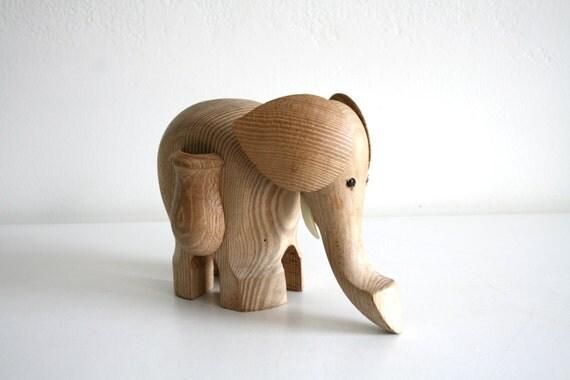 Items similar to sale large wooden elephant toothpick holder on etsy - Wooden pocket toothpick holder ...