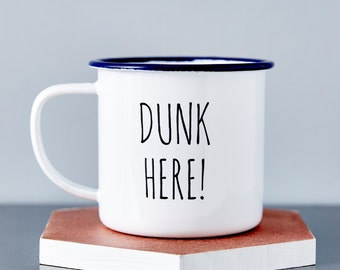 Enamel Personalised Dunk Here Mug