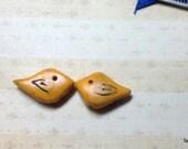 Tiny Handmade Yellow Bird Beads Cute Charm Drop