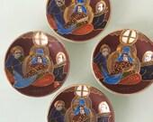 J.B. Betson's China Set of Four Satsuma Style Coasters/Sauces/Plates