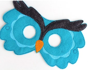 Kids Owl Mask, Owl Costume, Bird, Felt Mask, Kids Face Mask, Animal Mask, Halloween Costume, Pretend Play, Dress Up, Party Favors, Costume