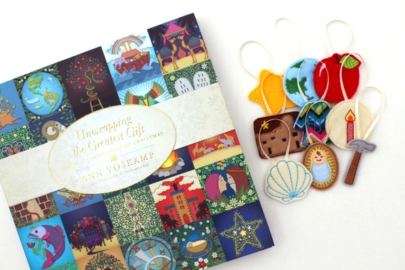 Jesse Tree Advent Calendar and Book Advent Ornaments Set Felt Jesse ...