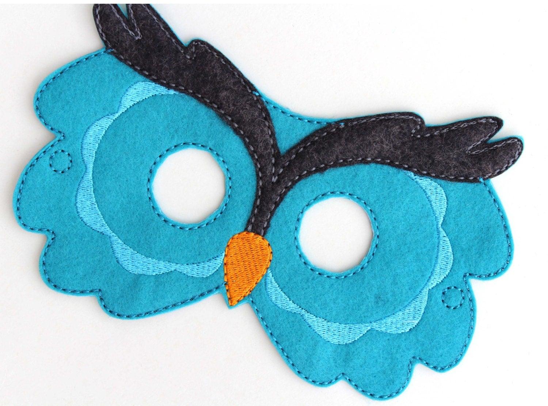 Kids Owl Mask Owl Costume Bird Felt Mask Kids Face Mask