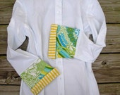 Bell Sleeve with Blue Green Yellow Shirt; LB14