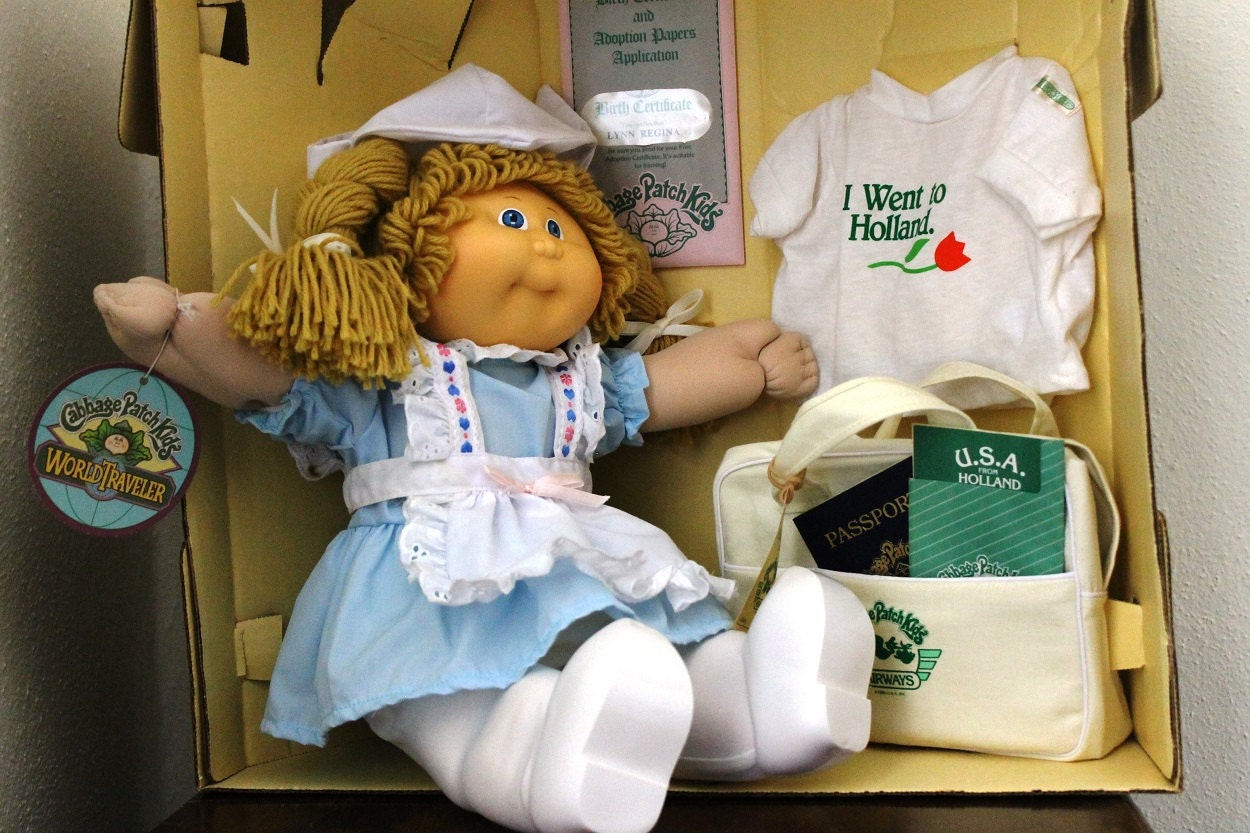 Cabbage Patch Kids World Traveler Holland 1985 Coleco Girl