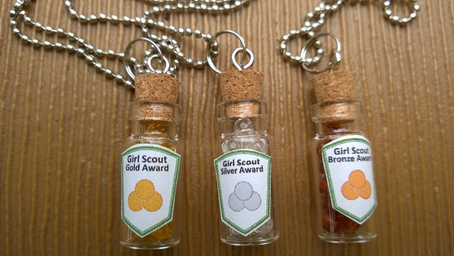 Girl scout scrapbook ideas - Set Of 10 Girl Scout Bronze Silver Or Gold Award Swaps Or Necklaces Craft Kits Or Ready Made Items