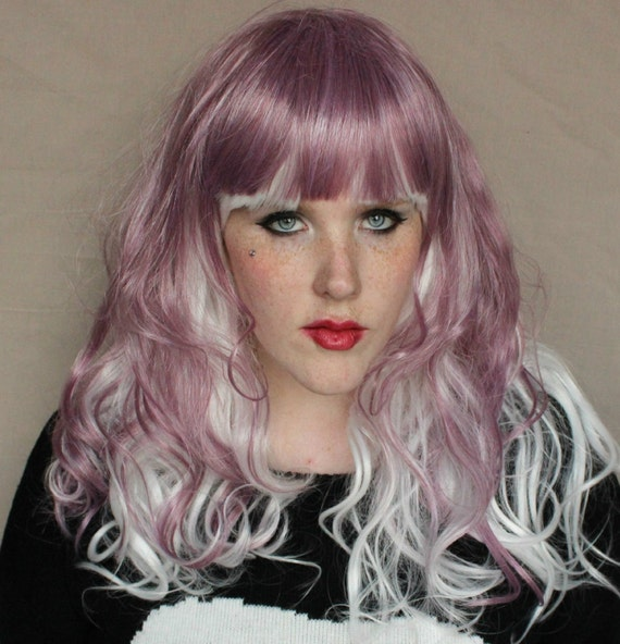 Purple and white wig stores selling wigs - Candy diva futura ...