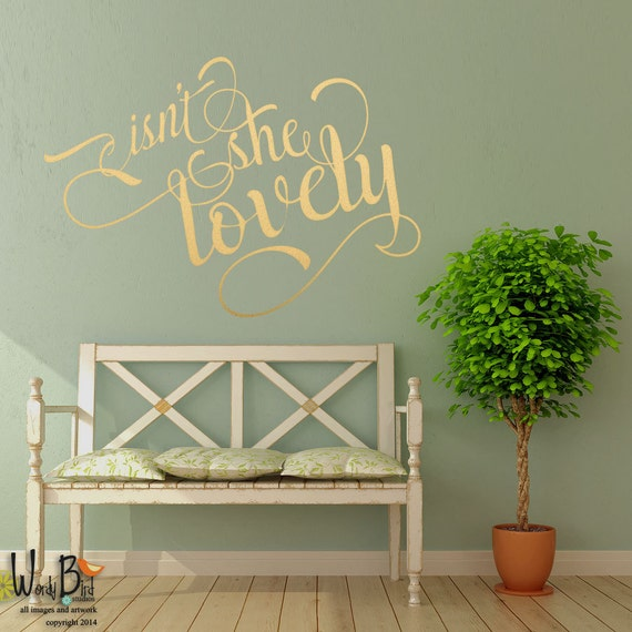 Isn 39 T She Lovely Metallic Wall Decals Calligraphy