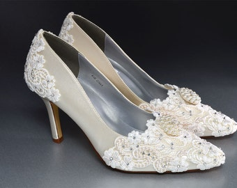 Womens Wedding Shoes - Accesssories- Bridal Shoes- Wedding Lace Shoes- Wedding Heels,Shoes,Women's Bridal Shoes-Wedding Shoes-Bridal Shoes-