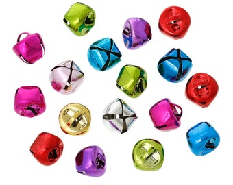 15 Sleigh Bells 12mm Ideal for Christmas Projects Metallic Jingle Bells - XC104