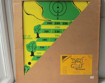 """Vintage Dart Golf Dart Board - New Old Stock 1985 - 22"""" x 24"""" - 2 Available - Man Cave - Game Room - Father's Day Gift"""