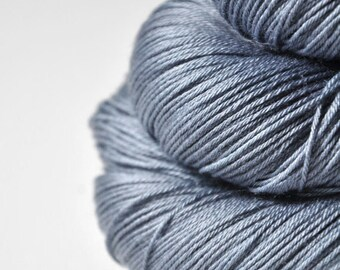 Blue Platinum - Merino/Silk Fingering Yarn Superwash