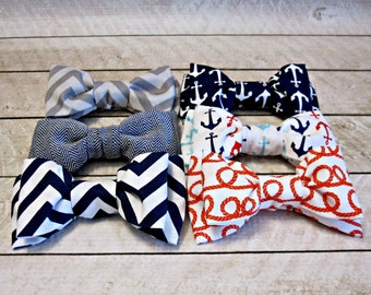 Ahoy! Anchor & Chevron Boy Bow Tie Collection