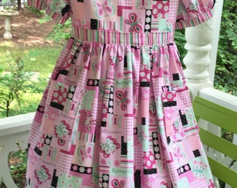 Girl's Ships Today  - Girl's  Yesterday Play Dress - Size 5 - 6