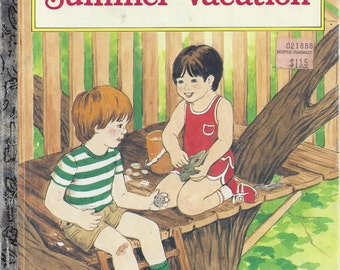 Summer Vacation, A Little Golden Book, Vintage Children's Book, C1986
