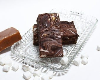 GooeyMess Chocolate Caramel Marshmallow Fudge, 1 pound