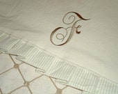 Custom Personalized Creamy White Monogrammed Table Runner - Beautiful Wedding Present