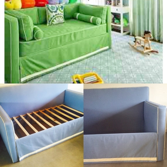 Custom Upholstered Daybed With High Back- Design Your Own in ANY Fabric