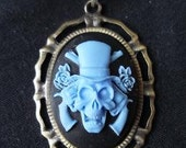 Skull & Cross Guns Cameo Pendant