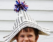 Newspaper Hats - Fourth of July Hats - Patriotic Hats - MADE TO ORDER - Choose Your Style