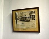 1940s Conestoga Trolley Framed Photograph