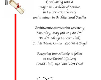 20 Graduation Announcements or Invitations