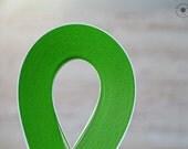 "2 mm light green paper strips //  Paper Quilling Strips // LIGHT GREEN // 100 STRIPS // 2 mm wide //  297 mm 11,7"" long"
