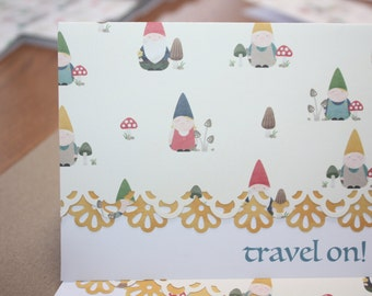Travel On handcrafted Note Cards