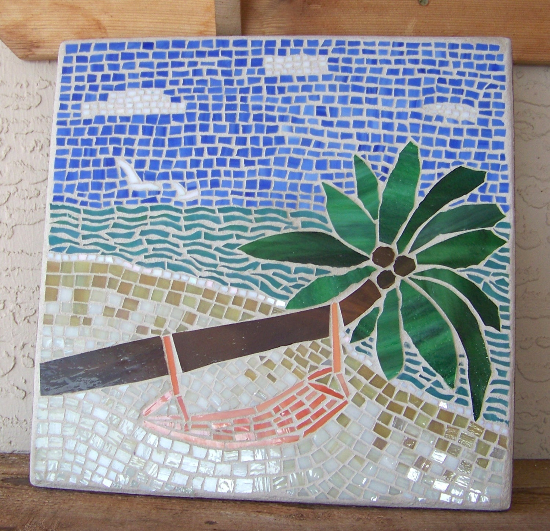 Stained Glass Mosaic Art Beach Decor Coastal Home Decor Mosaic