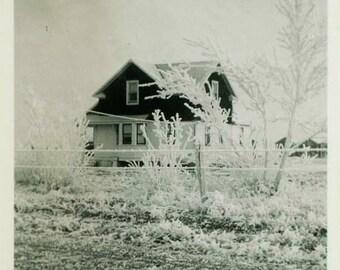 "Vintage Photo ""The Arctic Home"" Snapshot Photo Old Antique Photo Black & White Photography Found Photo Paper Ephemera Vernacular House - 69"