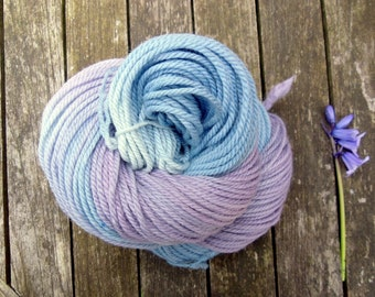 Hand Dyed Aran Yarn, Falkland Merino Yarn, worsted yarn, british wool yarn, 2 x 100g bundle