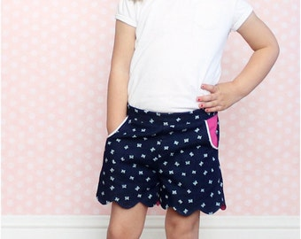 Seaside Scallop Shorts Sewing Pattern