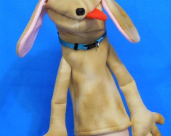 Gooby Dog  Hand Puppet or Ventriloquist Puppet Custom order