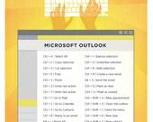 "Microsoft Outlook PC Keyboard Shortcut Printable Poster 8.5""x11"""