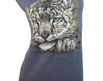 Iconic White TIGER Reshaped Wildlife T-Shirt / Dress Sz. S / M