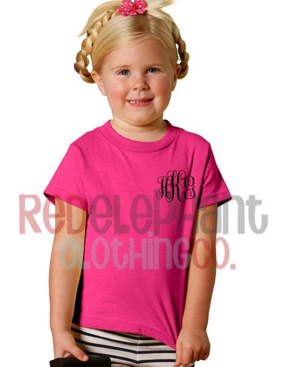 Monogram Tee For Kids Monogrammed Shirt Girlstoddler