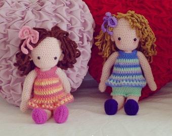 Amigurumi Crochet Pattern PDF - Girl Doll Crochet Pattern - nursery gift baby girl amigurumi - Instant DOWNLOAD