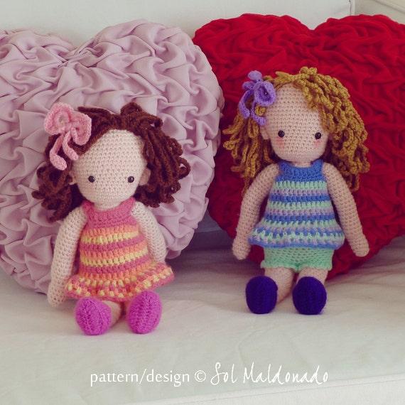 Amigurumi Doll Pdf : Amigurumi crochet pattern pdf girl doll by