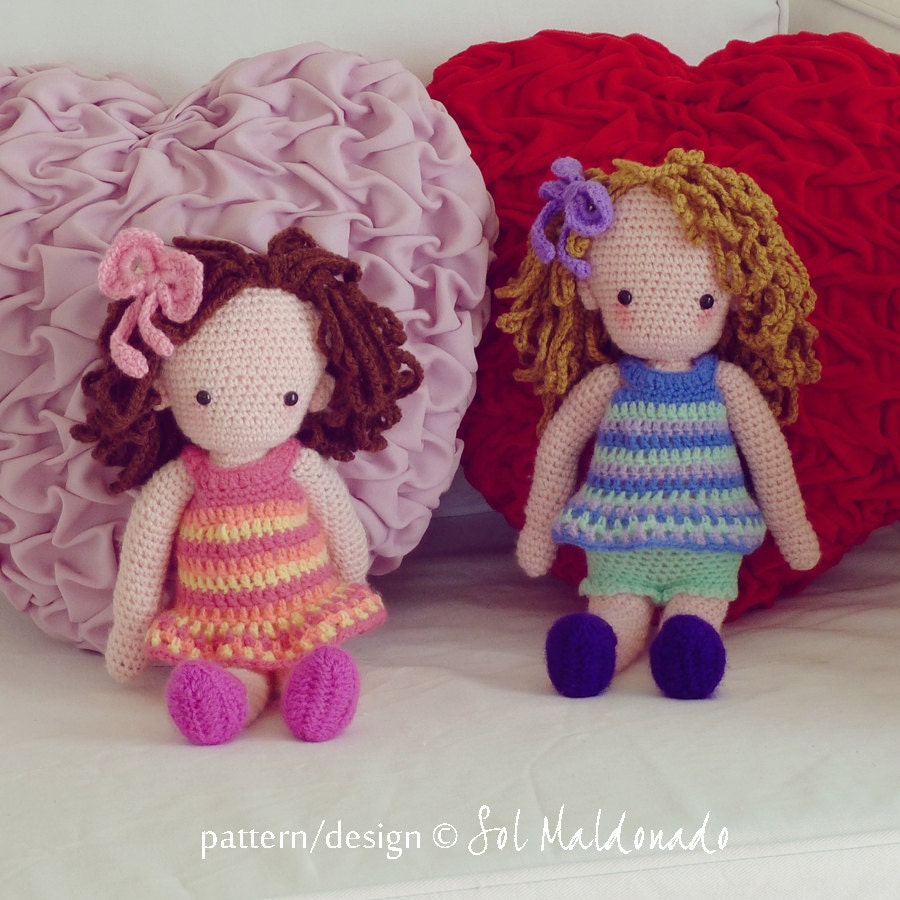 Amigurumi Hello Kitty Crochet Pattern : Amigurumi Crochet Pattern PDF Girl Doll Crochet Pattern