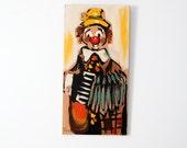 vintage clown painting