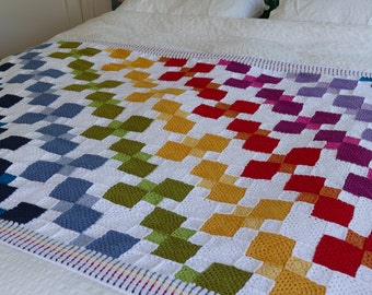 Tumbling Colours - Crochet Pattern